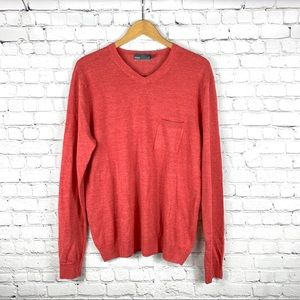 Vince Men's Rouge Linen Blend Sweater